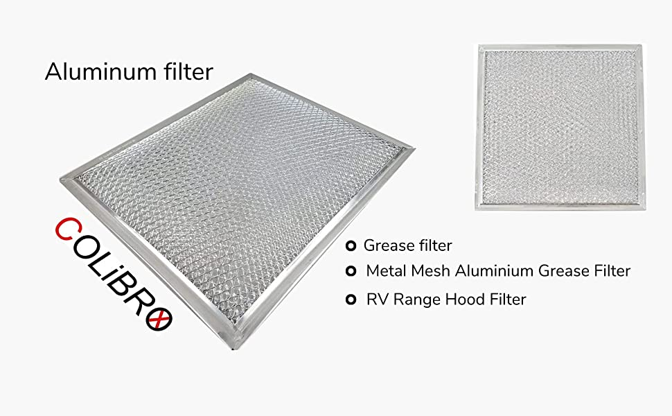 Aluminum filter Grease filter RV Camper  Grease Filter with filter element Range Hood Aluminum