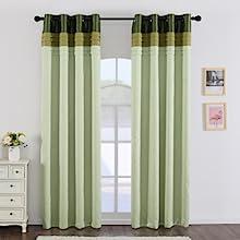 green balckout curtains