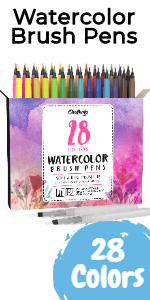 Watercolor Brush Pens - Pack of 26