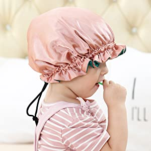 Greatremy Premium Satin Bonnet for Kids