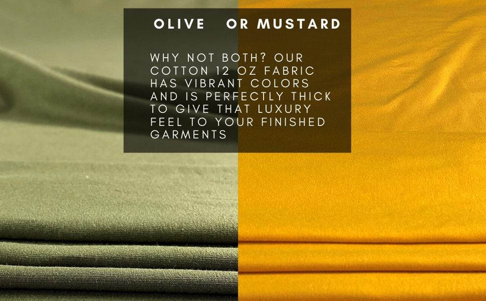 cotton lycra fabric 12 oz mustard olive