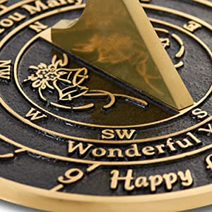 """/""""Love Is/"""" 2021 Wedding Anniversary Sundial Gift Idea By The Metal Foundry"""