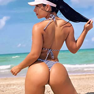 Bikini Bandage Solid Brazilian Swimwear Two Piece Women's Hot TANGA Brazilian Bikini Bottom Thong