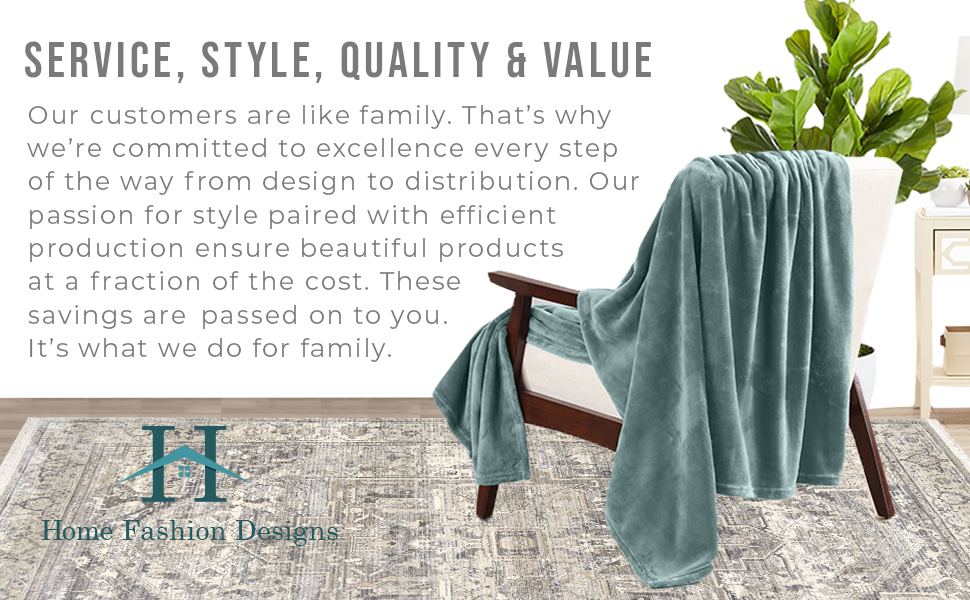 Velvet Plush Fleece Blanket Home Fashions