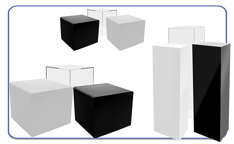 Marketing Holders 5 Sided Acrylic Cube Box Display Riser or Bin