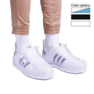 Short and thick series rain shoe covers