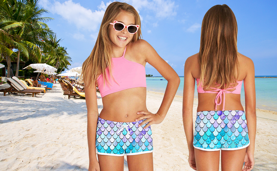 girls beach shorts