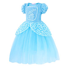 Dresses for Girls Costume Dress Princess Birthday Party Cosplay Outfits Tutu A+HG022 details-3