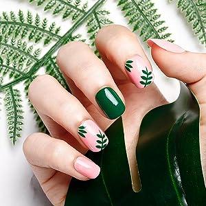 false nails with glue