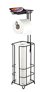 ZCCZ Toilet Paper Holder with Shelf