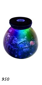 LED Glass Planter