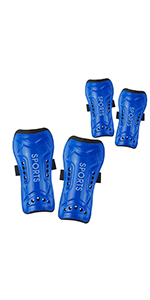 Youth Soccer Shin Guards for Kids with Knee High Socks Football Guards Protector Protective