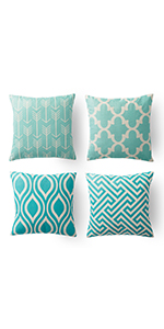 teal and coral sofa pillow blue beach throw pillows turquoise geometric pillow covers xinrjojo 18x18