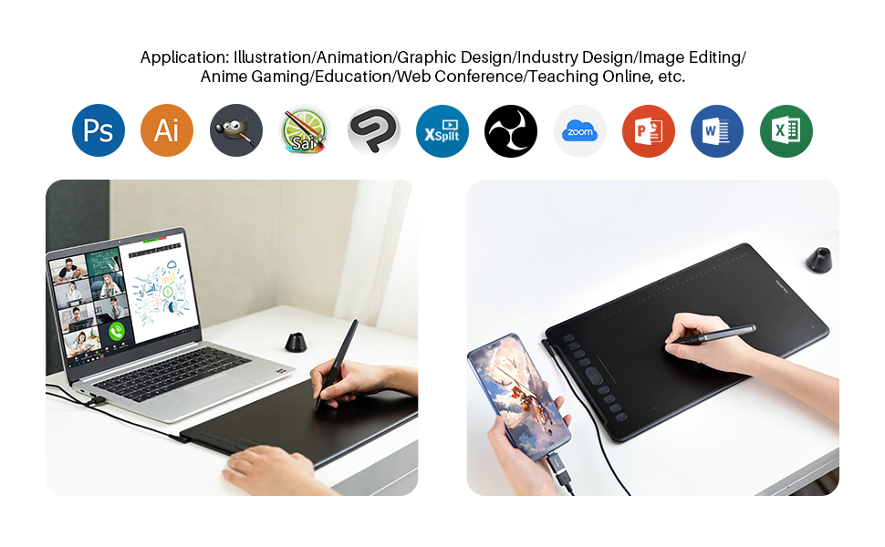 drawing tablet osu tablet wacom tablet huion tablet xppen tablet teaching online tablet