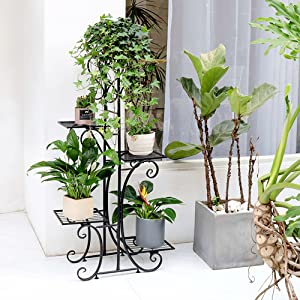 tall plant stand iron