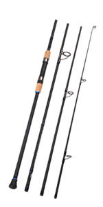 4-Piece Surf Spinning Fishing Rod Portable Carbon Fiber Travel Fishing Rod