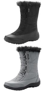 Womens Outdoor Waterproof Winter Snow Boots for Women
