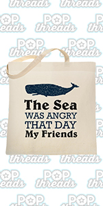 Funny TV Vandelay Sea Was Angry That Day Costanza Large Canvas Tote Bag Women