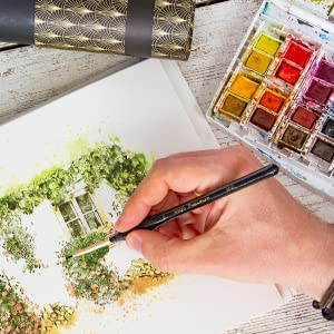 painting with comfortable brush