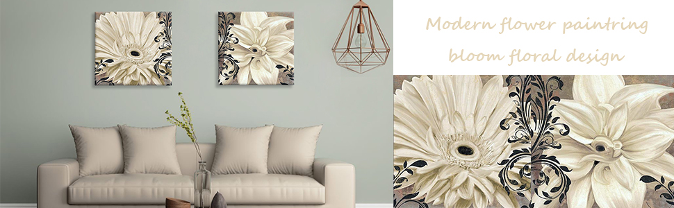 modern floral painting