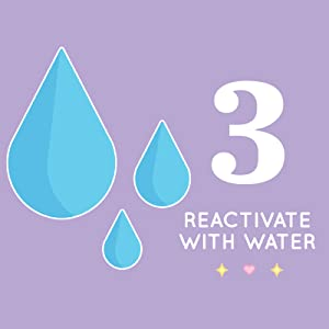 step three reactivate with water
