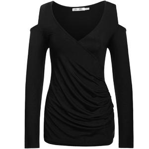 Black Tunic T-Shirt Blouse Shirt