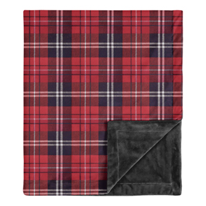 Woodland Plaid Flannel Rustic Patch Baby Boy Receiving Security Swaddle Blanket Newborn or Toddler