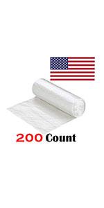 "High Density 43""x48"" Ox Plastics 45-50 Gallon Trash Can Liner Bags 200 Rolls"