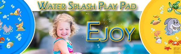 ejoy water play mat outdoor splash pad sprinkler for kids boys girls