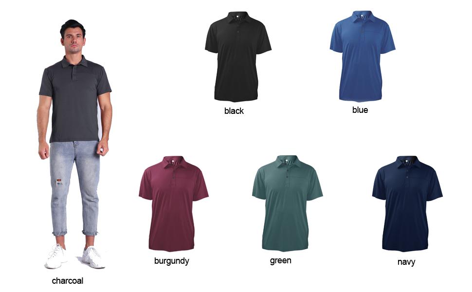 black golf shirt,short sleeve polo shirts,dry fit collared shirts for men,basics golf shirt,