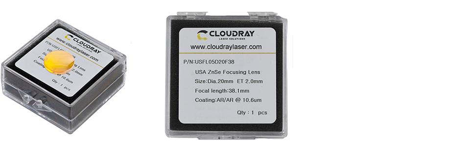 Cloudray CO2 Laser Focus Lens Dia 18mm 19.05 20  USA PVD ZnSe for CO2 Laser Engraver Cutter