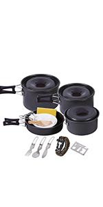 camping pan and pot