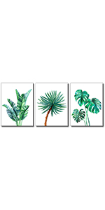 watercolor desert flowers decor leave workart wall paint print on canvas  modern contemporary white