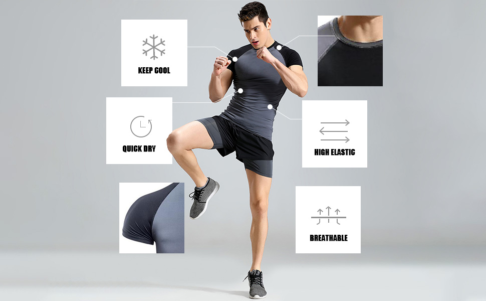 high elastic sports tops