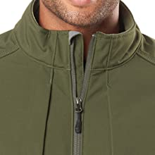 YKK two-way front zip with chin guard