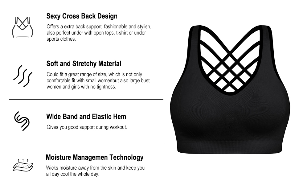 SPORTS BRAS FOR WOMEN
