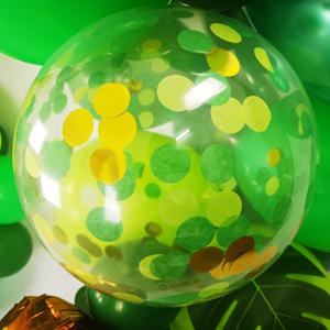 Jungle confetti balloons
