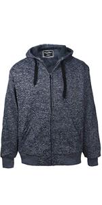 dark blue mens sherpa lined hoodie