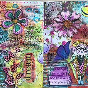 COLLAGE scrapbook craft projects art lessons professional students for kids Moleskine