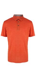 Orange Golf Polo Shirt