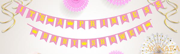 Xonara Its A Princess Baby Shower Decorations for Girl - 55 Piece Girls Baby Shower Decoration