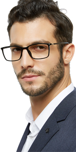 Men's flexible reading glasses
