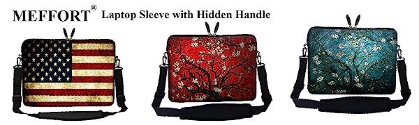 laptop sleeve with hidden handle