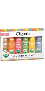 Cliganic Lip Balm Set, 6 Pack