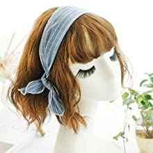Hair Scrunchies, Fashion Ribbon Bow Scrunchies with Solid Colors, Hair Scarf, Bunny Ear Scrunchies
