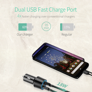 dual port fast car charger