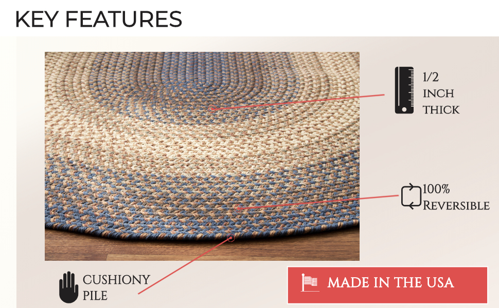 BRAIDED RUG FEATURES