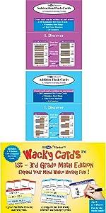 Addition Subtraction Wacky Cards Bundle