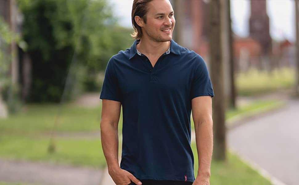 pima organic cotton 100% pure texere t-shirt mens puno polo