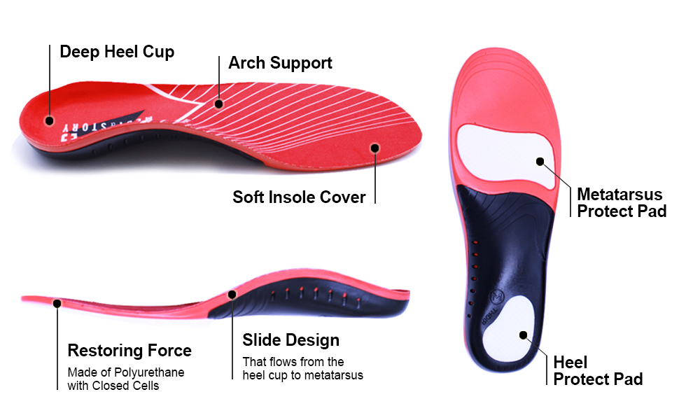 New Outdoor Climbing Shoes Insoles Arch Support